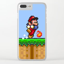 Fireball Trouble Clear iPhone Case