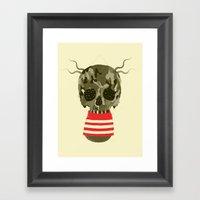 REd lines  Framed Art Print