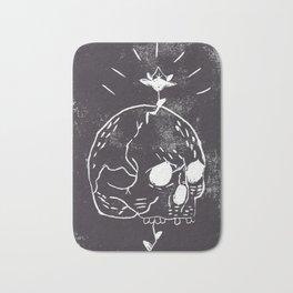 Skull & flower bud Bath Mat