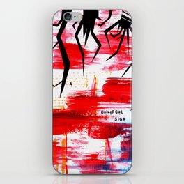 A Universal Sigh Radiohead Inspired Print iPhone Skin