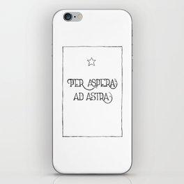 Per Aspera Ad Astra iPhone Skin