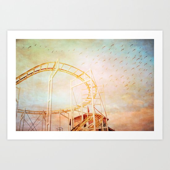 Whimsy Ride II Art Print