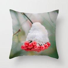 Frozen berries Throw Pillow