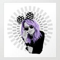 nicole richie purple hair Art Print