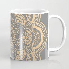 Mandala Flower Gray & Peach Coffee Mug
