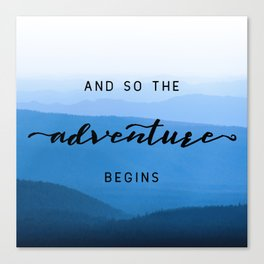Smoky Mountains -  And So The Adventure Begins Canvas Print