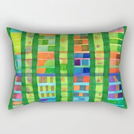 Colored Fields With Bamboo Rectangular Pillow