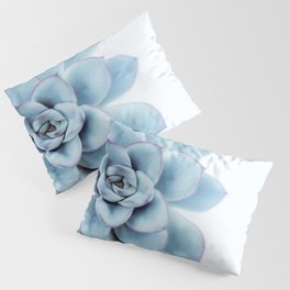 Blue Succulent #1 Pillow Sham