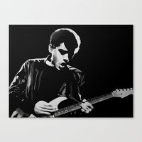 john mayer Canvas Prints featuring John Mayer by Art by Olivia Louise