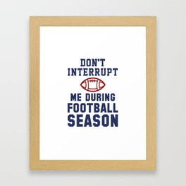 Football Season Framed Art Print