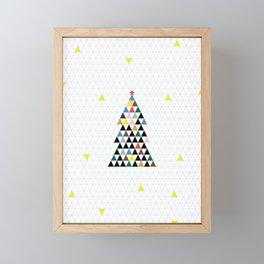 Geometric Christmas Tree Framed Mini Art Print