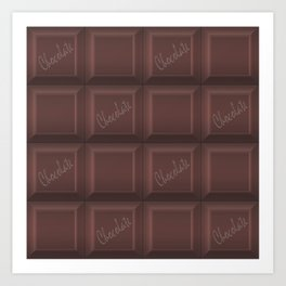 Milk chocolate #Milk #chocolate Art Print