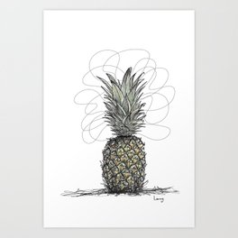 Tropical Pineapple Art Print