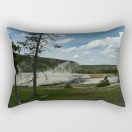 Firehole River And Geyser Area Rectangular Pillow