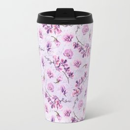 Branches with Purple Orchids Travel Mug