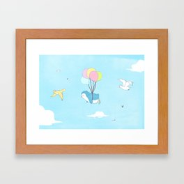 Penguins Can Fly! Framed Art Print