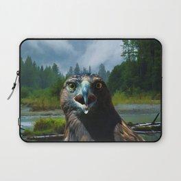 Alaskan Attitude - Bald Eagle & Misty Forest Laptop Sleeve
