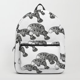 Blue Manatee Backpack