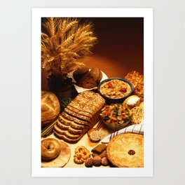 Wheat Foods Art Print