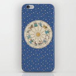 Vintage Astrology Zodiac Wheel iPhone Skin