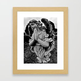 Praying angel Framed Art Print