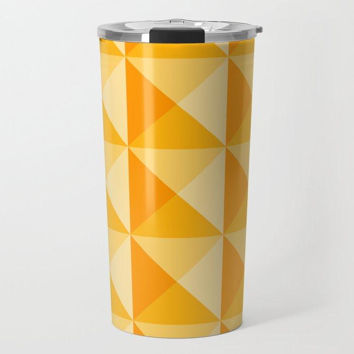 Geometric Prism in Sunshine Yellow Travel Mug