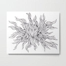 Seaweed design 1 Metal Print