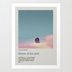 Retro Cinema Poster: Return of the Jedi Art Print