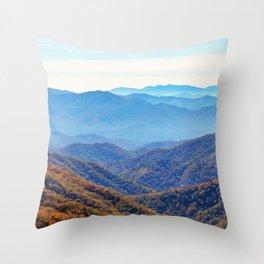 Smoky Mountain Layers Throw Pillow