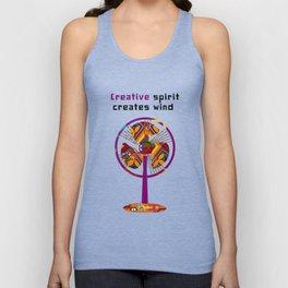 Creative spirit creates wind Unisex Tank Top