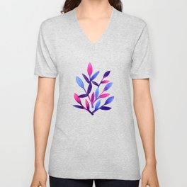 Simple and cute watercolor  floral Unisex V-Neck