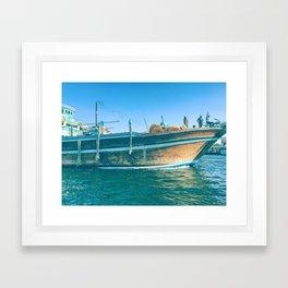Blue port blues Framed Art Print