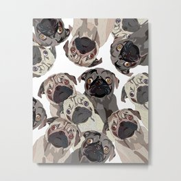 Pug Nation Metal Print