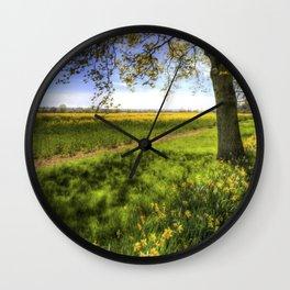 Daffodil Meadow Wall Clock