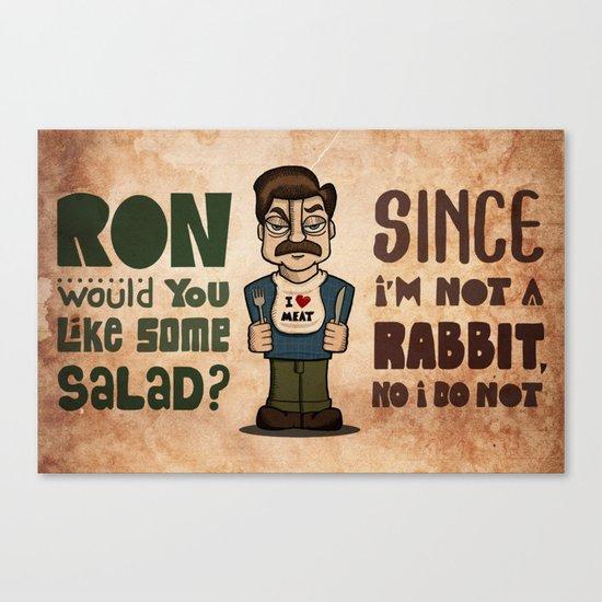 Ron Swanson 2 Canvas Print