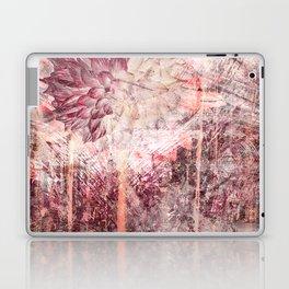Mauve Grunge Flower Laptop & iPad Skin