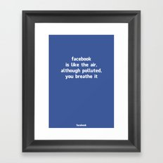 Poster Facebook Framed Art Print