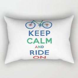 Keep Calm and Ride On Rectangular Pillow