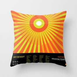 Day For Night Minimalist Celebration Throw Pillow