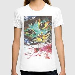 Emerald cat T-shirt