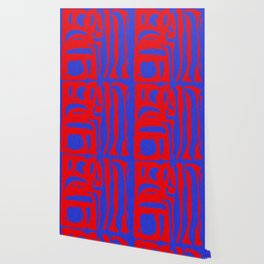 Abstract in Blue and Red I Wallpaper
