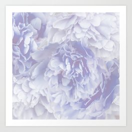Flower Bouquet In Pastel Blue Color - #society6 #buyart Art Print