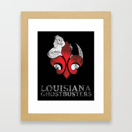 Louisiana Ghostbusters Distressed Logo Framed Art Print