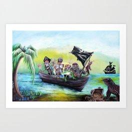 Pirate Booty Beach Art Print