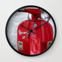 Vespa Rosso Wall Clock