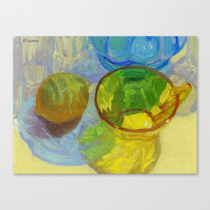 Colored Glass #12 Still Life Canvas Print