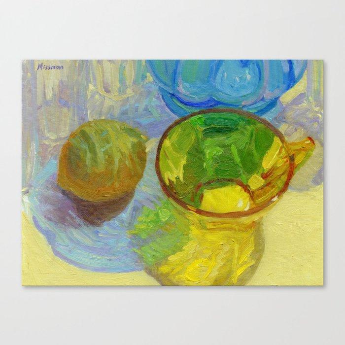 Colored Glass #12 Still Life Canvas Print