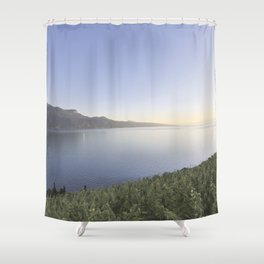 The Vineyards Overlooking The Geneva Lake Shower Curtain