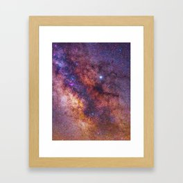 Milky Way Galaxy Framed Art Print
