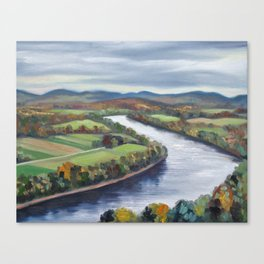 View of the Connecticut River from Mount Sugarloaf Canvas Print